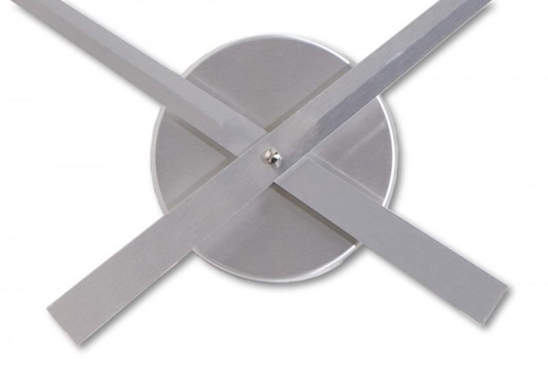 wanduhr little big time 80cm silber 16179 2546. Black Bedroom Furniture Sets. Home Design Ideas