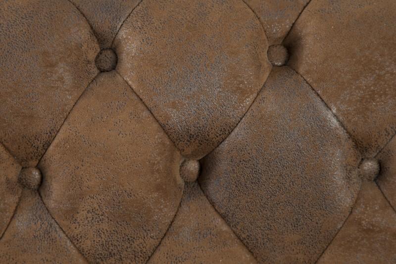 Pohovka Chesterfield 3 hnědá - starožitná / 17382