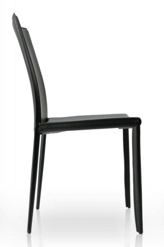 stuhl milano schwarz leder 4139 2332. Black Bedroom Furniture Sets. Home Design Ideas