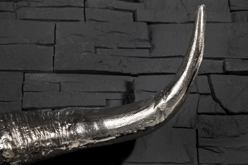 Dekorační lebka Matador stříbrná / 19009