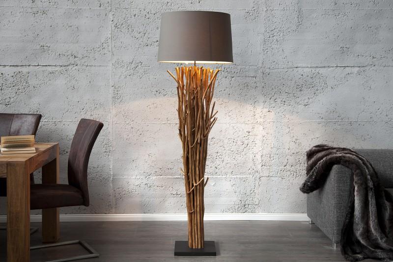 Stojací lampa Euphoria - naplavené dříví 175cm -hnědá / 19472