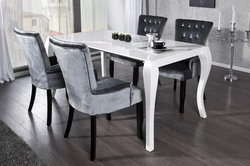 Esstisch mit stühlen weiß  Esstisch Barocco weiss Auszug 170-200-230cm/ 20053 -3246