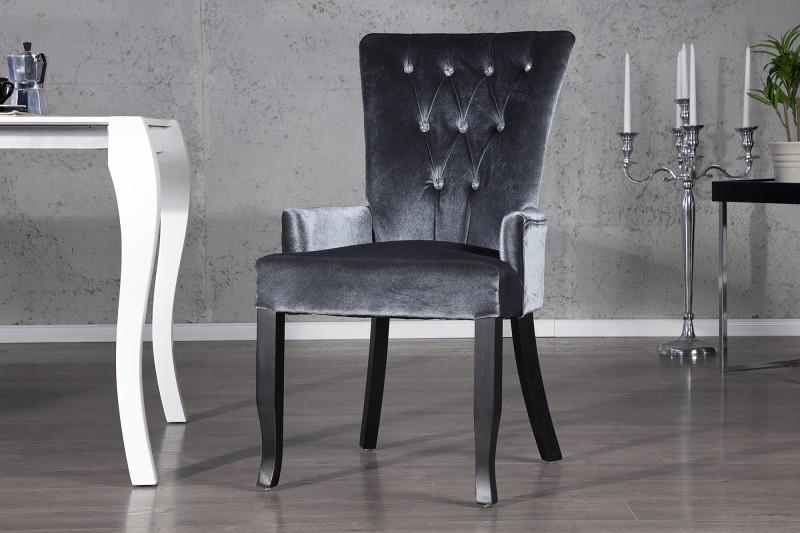 Stuhl boutique mit armlehne grau 20143 3218 - Stuhl mit armlehne grau ...