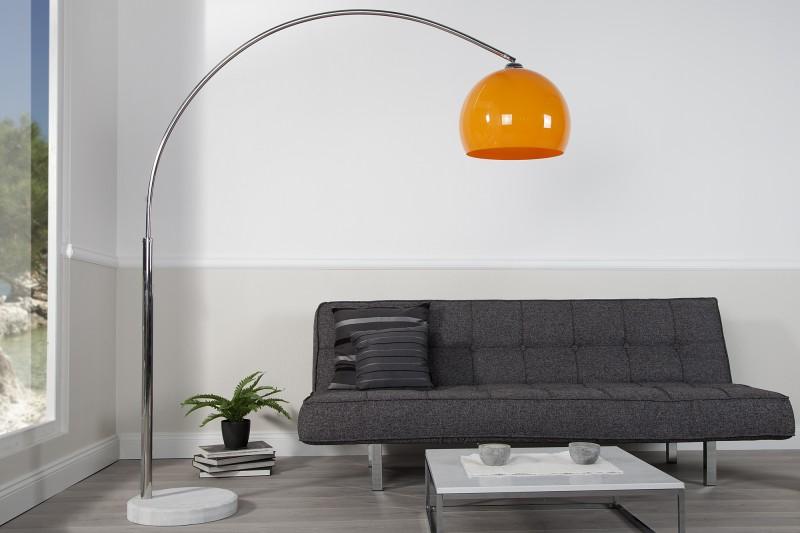 Stojací lampa Big Bow 175-205cm - oranžová  / 20747