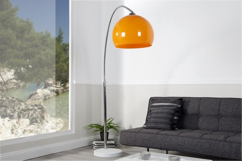 Stojací lampa Big Bow II - oranžová 175-205cm / 20747