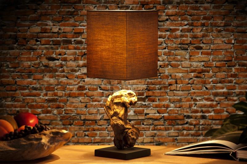 Stolní lampa Hypnotic 45cm - hnědá, naplavené dřevo / 19479