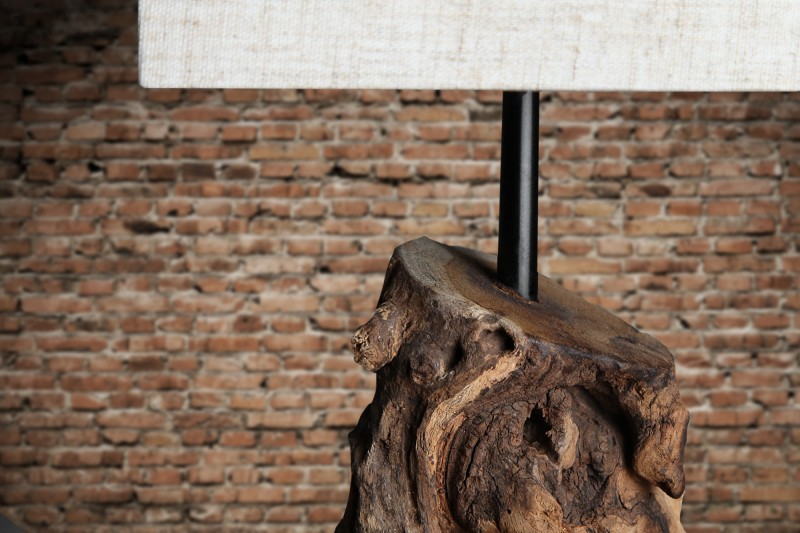 Stolní lampa Hypnotic - béžová, naplavené dřevo / 19478