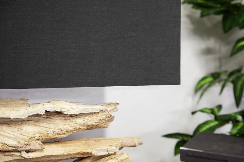 Stolní lampa Riverine 55cm - černá, naplavené dřevo / 17327