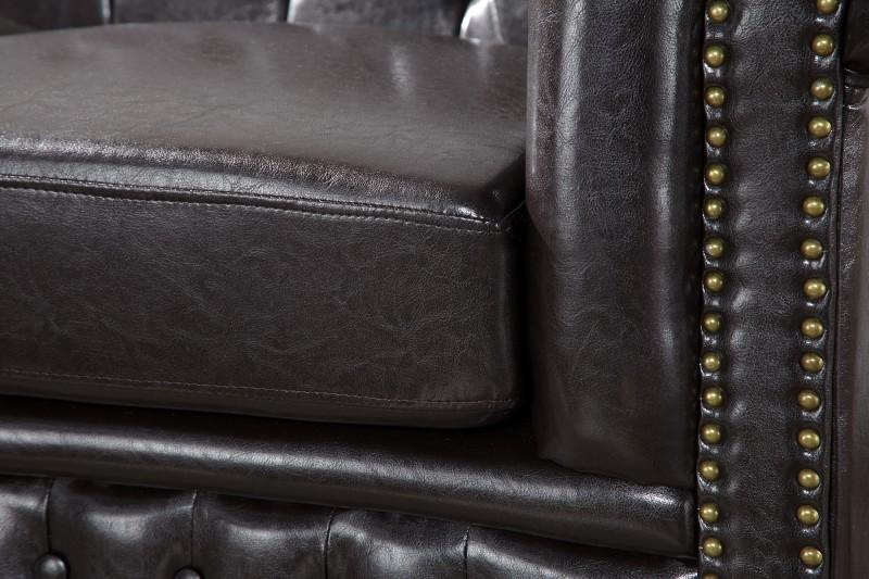 Pohovka Chesterfield III 210cm - tmavá káva / 9686