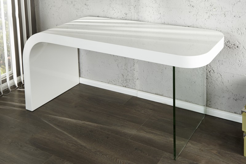 Schreibtisch weiß hochglanz glas  Schreibtisch Onyx 140cm weiss/ 17423 -2789