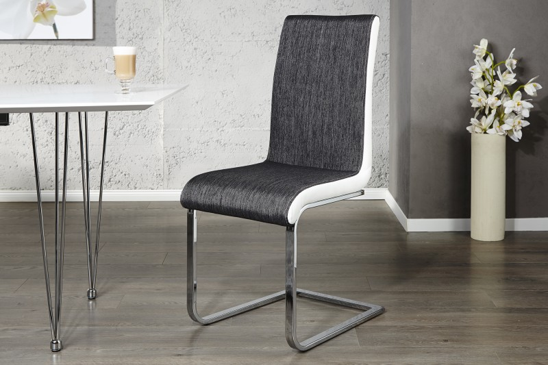 Jídelní židle Grace - antracit, bílá / 20111