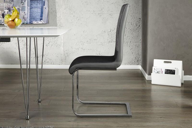 Konferenční židle Metropolis II anthr.black / 20110