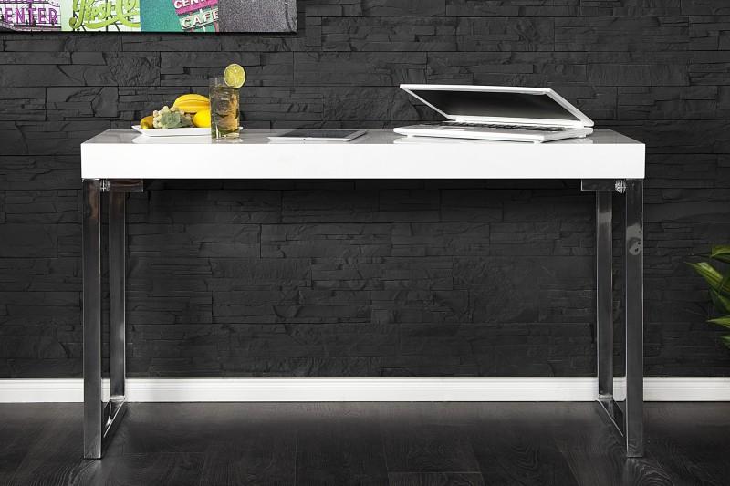 Pracovní stůl Writing Desk 120cm x 40cm - bílý, chrom  / 16714