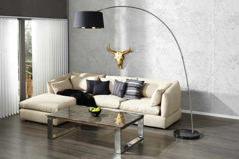 Stojací lampa Forma - černá, zlatá / 13069