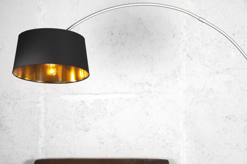 Stojací lampa Forma 215cm - černá, zlatá / 13069