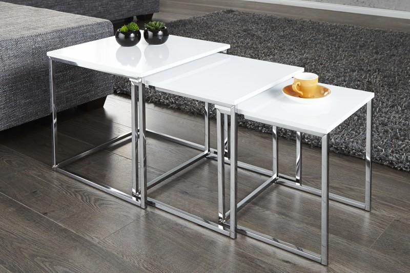 Konferenční stolek Juliet 3ks - bílý / 11839
