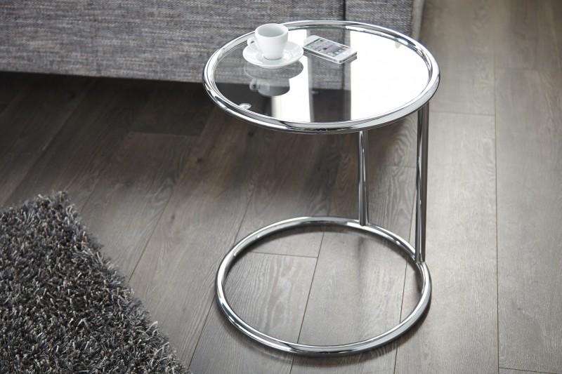 Odkládací stolek Art Deco 55cm x 40cm - stříbrný / 60