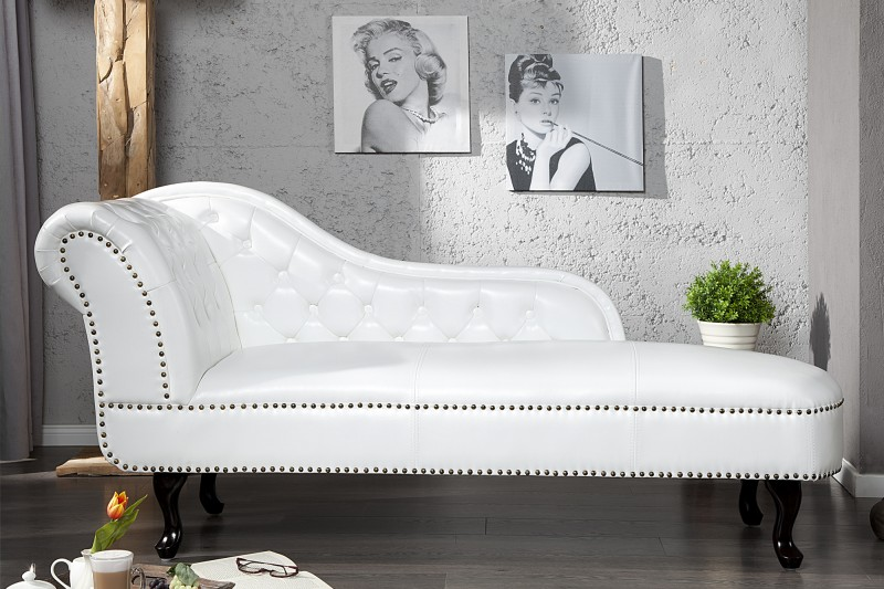 recamiere chesterfield weiss 10943 2505. Black Bedroom Furniture Sets. Home Design Ideas