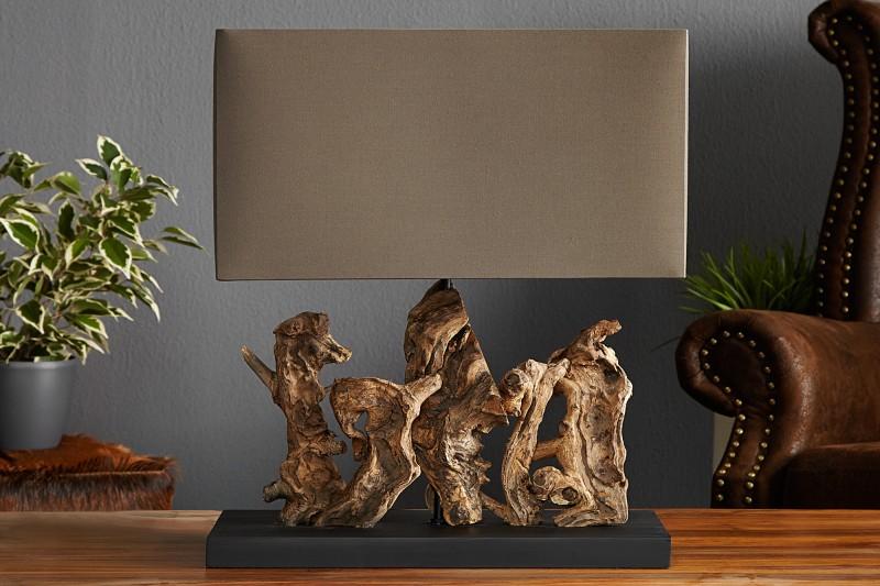 Stolní lampa Aragon 50cm - naplavené dřevo / 20694