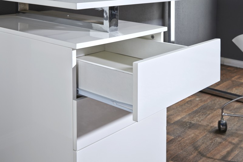 Pracovní stůl Roney 160cm x 70cm - bílý, chrom / 18613