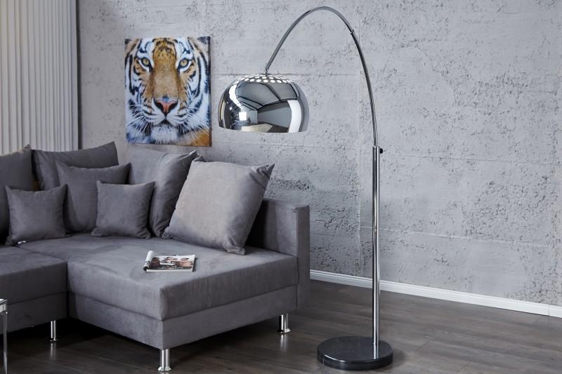 Stojací lampa Big Bow II 170-205cm - chrom  / 21067