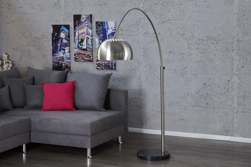 Stojací lampa Big Bow II - chrom 170-210 cm / 21068