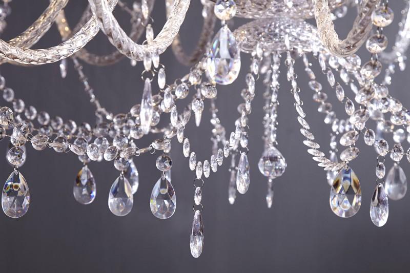 Závěsné světlo Diamond - 30 ramen, čiré / 1714