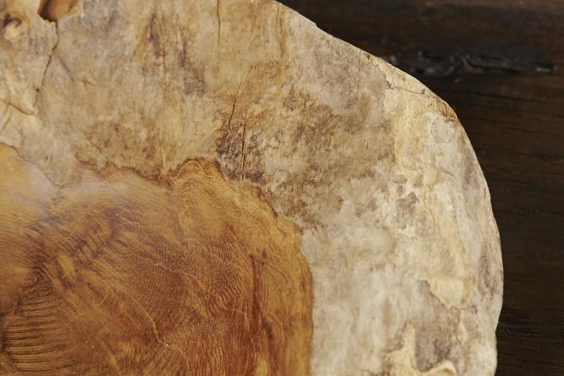 Burl dřevěný miska přírodní 30cm teak / 18117