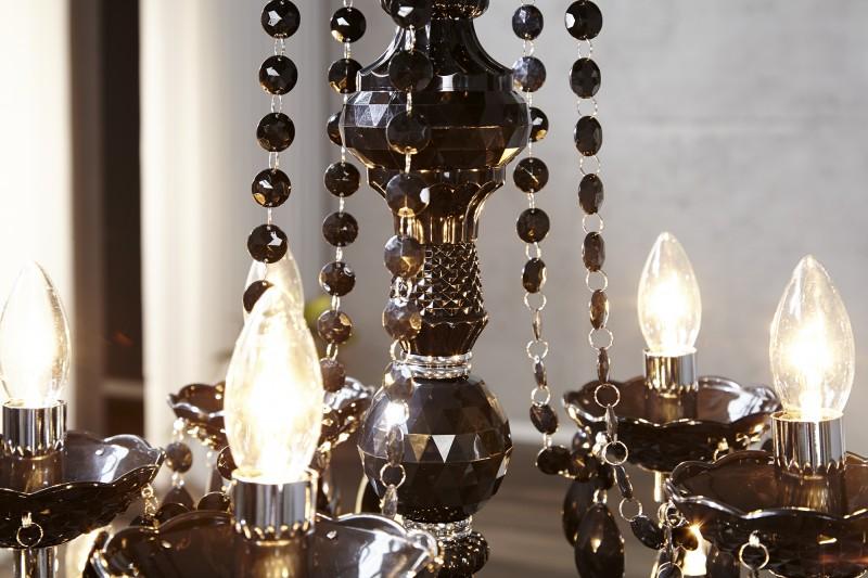 Závěsné světlo Diamond - 15 ramen, černé / 1282
