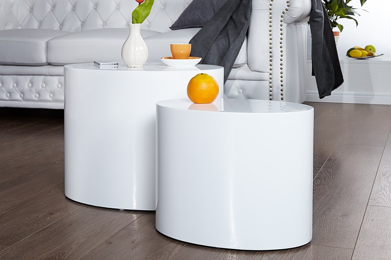 Sada dělicích stolů 2 bílá / 20924
