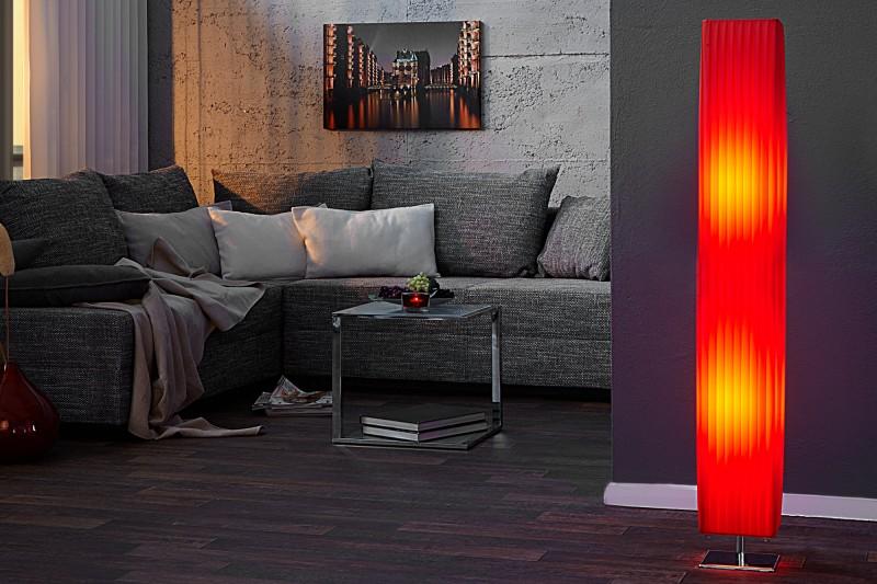Stojací lampa Paris 120cm - červená / 1463