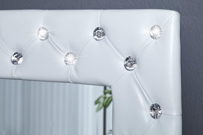 wandspiegel boutique 80cm weiss kunstleder 17815 2785. Black Bedroom Furniture Sets. Home Design Ideas