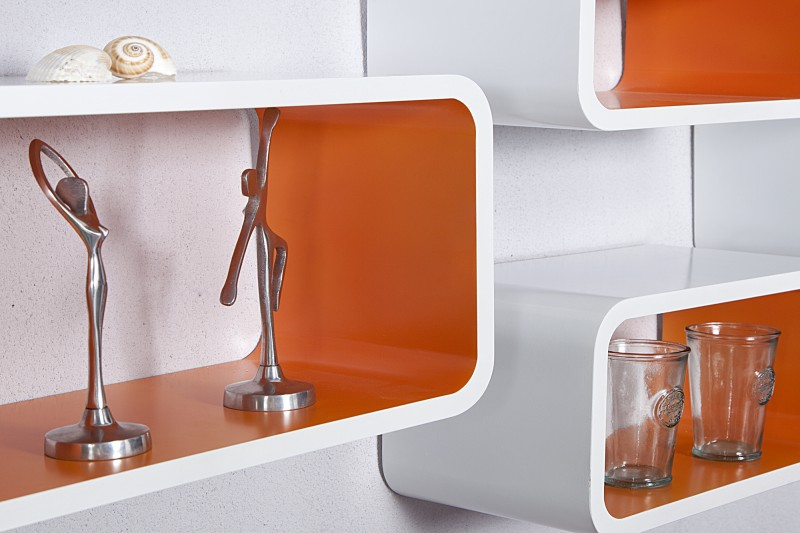 Regal Club Cube 4-er Set weiss orange/ 18050 -2849