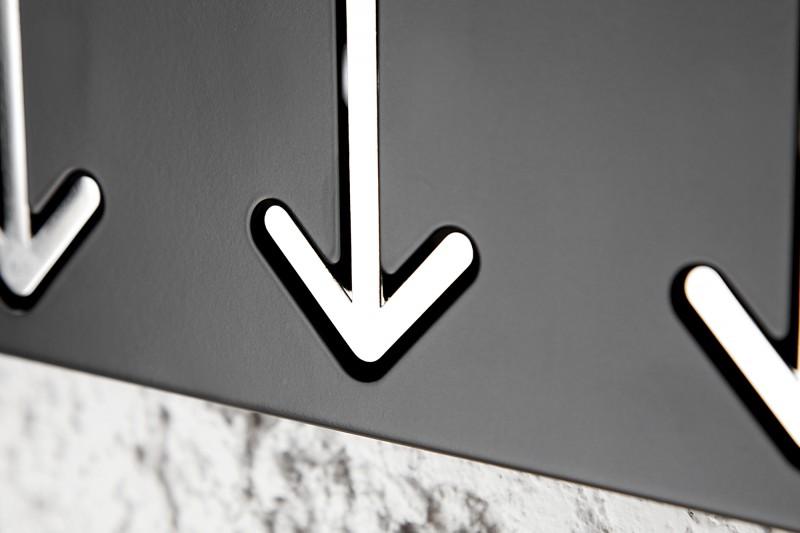 Nástěnný věšák Arrow 3er - černý / 20578