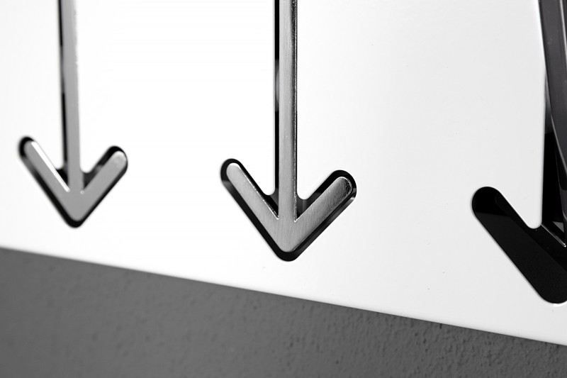 Nástěnný věšák Arrow 5er - bílý / 20581