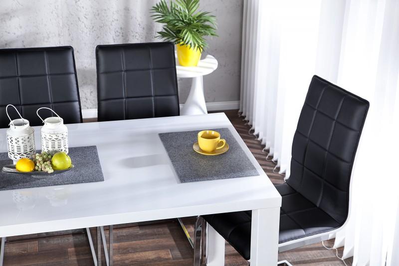 Jídelní stůl Lucente 160cm x 80cm - bílá, vysoký lesk / 17009