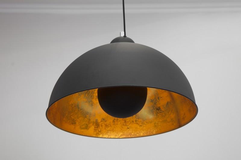 Závěsná lampa Hollywood l - černá, zlatá / 19697