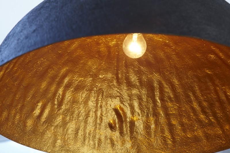 Závěsné světlo Bennett - černá, zlatá 50cm / 10717