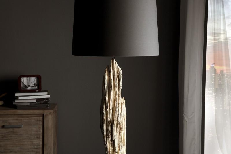 Stojací lampa Rousilique - naplavené dříví - černá / 17321