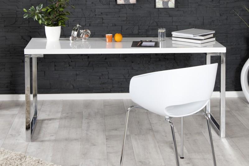 Pracovní stůl Writing Desk 160cm x 60cm - bílý, chrom / 21142