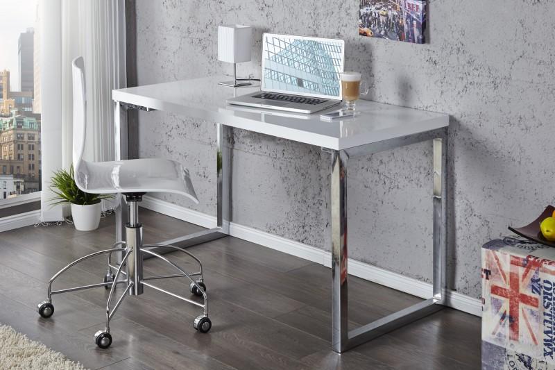 Pracovní stůl Writing Desk 120cm x 60cm - bílý, chrom  / 20999