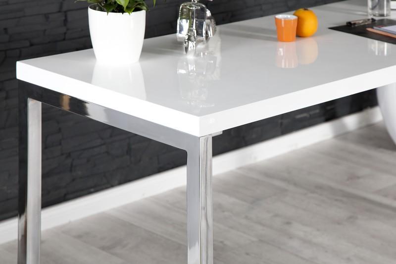 Pracovní stůl Writing Desk 140cm x 60cm - bílý, chrom / 21141