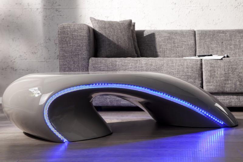 Couchtisch Curve grau  mit LED Beleuchtung18880 2964