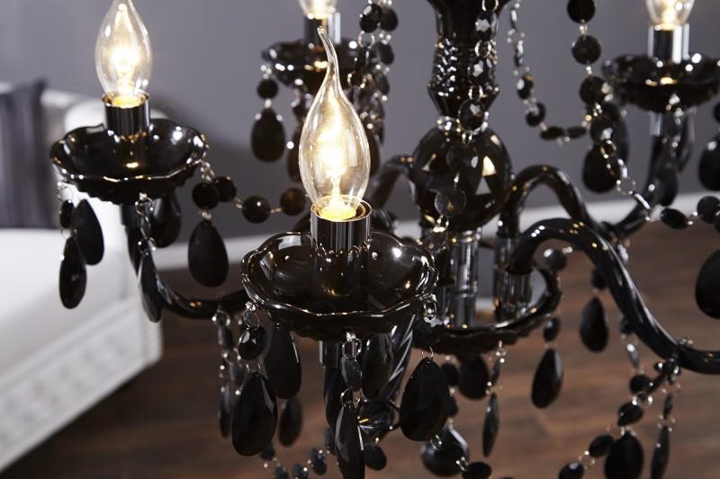 Závěsné světlo Diamond - 5 ramen, černá / 1452