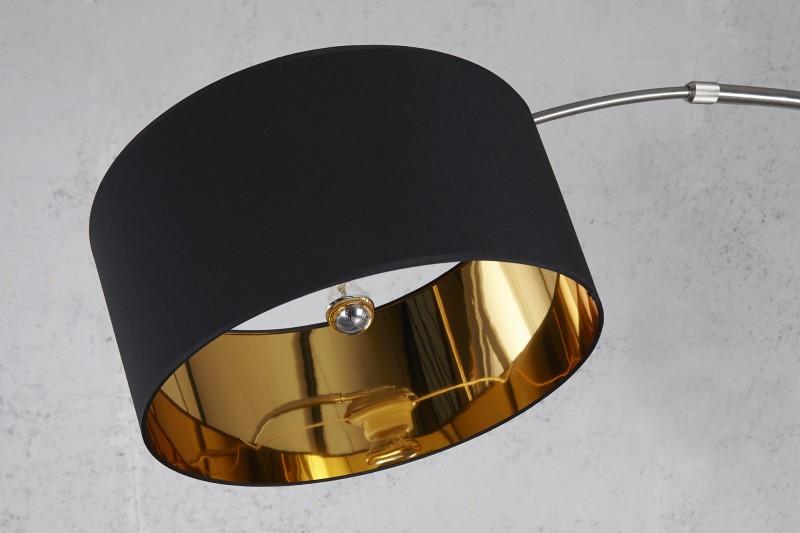 Stojací lampa Python - černá, zlatá / 5758