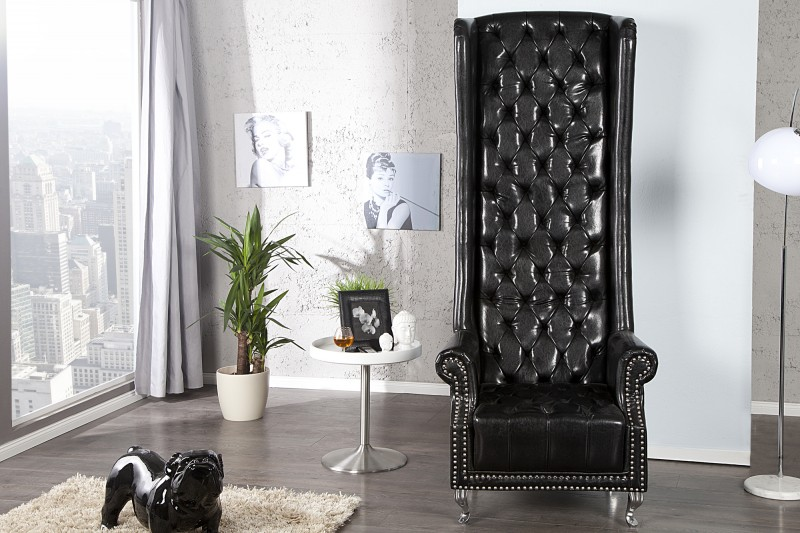 Křeslo Heritage černé/ 21400