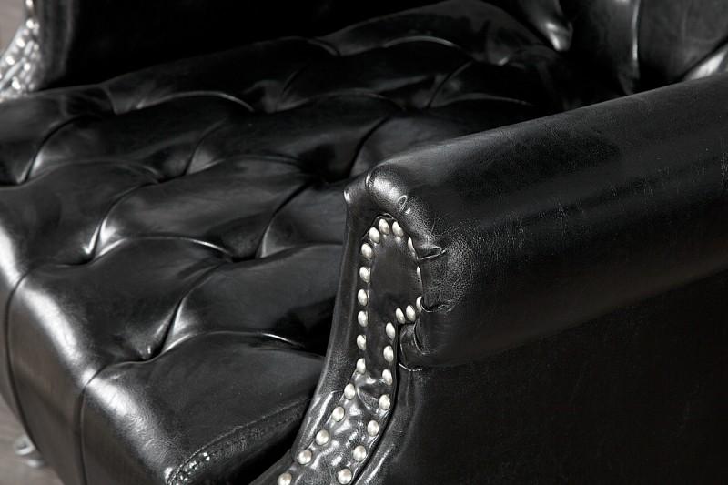 Křeslo Jefferson 80cm - černé / 21400