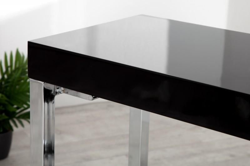 Pracovní stůl Writing Desk 120cm x 40cm - černý, chrom / 22093