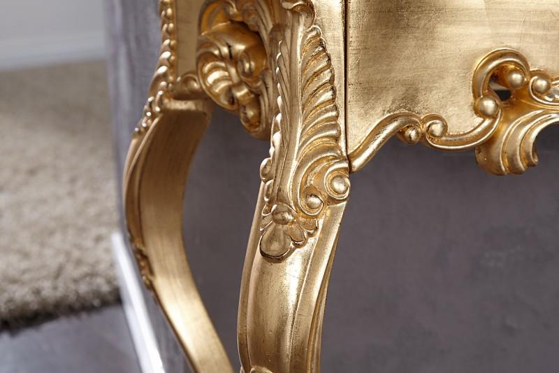 Toaletní stolek Lorenzo 110cm x 35cm  - zlatý / 15633