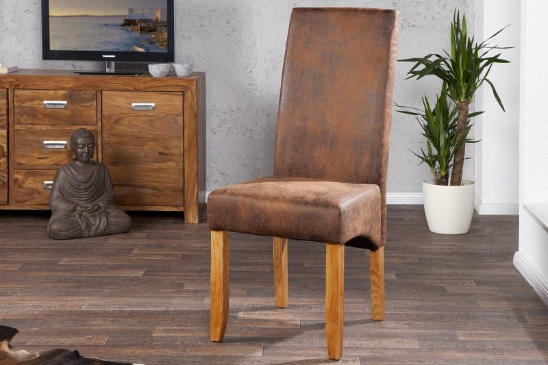 Jídelní židle Casa - vintage hnědá / 21133